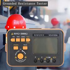 Numérique LCD Mètre de Résistance de Terre Compteur Testeur Tension Mesure Neuf