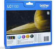 BROTHER SET OF 4 LC1100 LC980 Original  Ink Cartridges LC-980