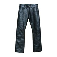 Custom Made Fit Leather Zipper Jeans Pant New