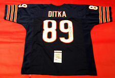 MIKE DITKA AUTOGRAPHED CHICAGO BEARS JERSEY JSA HOF 88 INSCRIPTION
