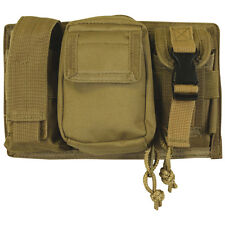 Tactical Military Triple Panel MOLLE Pouch for Mags Lights - COYOTE DESERT TAN