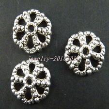 100pcs Tibetan Silver Filigree Bead Caps Findings 7.5mm 1866