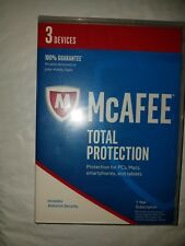 Mcafee 1 Year Total Protection For 3 Devices PCs,Macs,Smartphones and Tablets