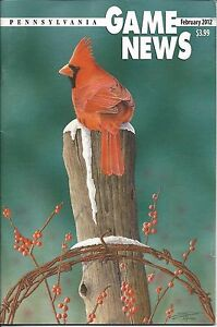 Pennsylvania Game News February 2012 cover by Scott Calpino Northern Cardinal