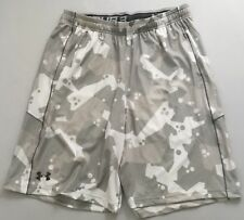 Under Armour MEN'S Athletic Shorts Loose Heat Gear Camo White 1291322 Size XL