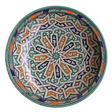 peinte à la main Bol en céramique de marokkodeko Maroc fait à oriental F022
