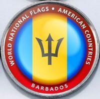 Barbados - Bougainville Island 1 Dollar 2017 UNC Flag unusual coinage