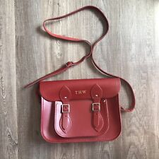 THE CAMBRIDGE SATCHEL COMPANY RED LEATHER BAG
