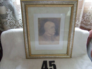 Original Portrait of 1st. president of Czechoslovakia Thomas G. Masaryk by artis