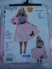 Charades Poodle Dress Fuschia Size Plus Size X1