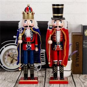 Classic Wooden Nutcracker Guard Cloak Soldier for Home Ceremony Decoration
