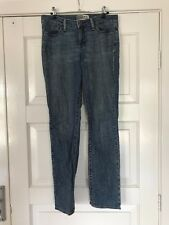 """Womens STRETCH LEVI STRAUSS SIGNATURE JEANS SIZE 8 M """"MID RISE, STRAIGHT"""""""