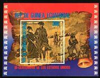 Equatorial Guinea #MiBl176 MNH S/S CVEUR7.50 American Bicentennial Washington...
