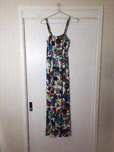 Miss Me Vintage Ladies White Floral Maxi Dress Size 8 Good Condition