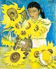Print - Muchacha Con Girasoles by Diego Rivera