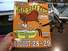 6TH ANNUAL KIELBASA FEST - PLYMOUTH PA - HIGH GLOSS FESTIVAL SIGN - EXCELLENT