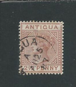 ANTIGUA 1882 2½d RED-BROWN PART ANTIGUA CDS FU SG 22 CAT £55
