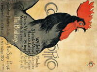 Theophile Alexandre Steinlen Cocorico Giclee Art Paper Print Poster Reproduction