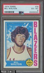 1974 Topps Basketball #39 Bill Walton Trail Blazers RC Rookie HOF PSA 6 EX-MT