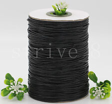 10/200Yards Waxed Cotton Cord Various Colours Lengths Available DIY Rope 1mm