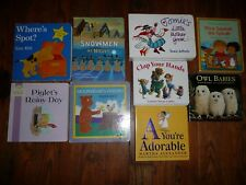 Lot of 9 CLASSIC BABY BOARD BOOKS Pooh SNOWMEN Tomie DePaola SPOT Frank ASCH++