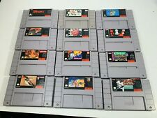 12 SNES VIDEO GAMES, TESTED AND WORKING FOR NINTENDO, BIG LOT