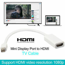 Mini Display Port a HDMI HD Tv Cable Lead Adaptador Para Macbook Pro Apple Mac UK