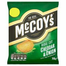 McCoys Cheddar And Onion Large Bags X 16 Full Case Only £14.99