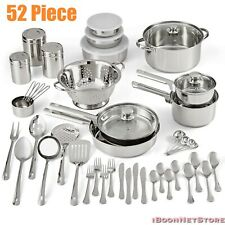 NON STICK Stainless Steel COOKWARE SET 52 Piece NEW Pots and Pans Utensils SET