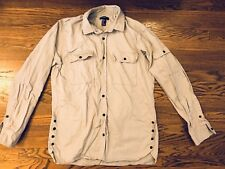 Men's forever 21 Long Sleeve Button Down Jacket Shirt Gray XS