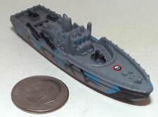 Small Micro Machine Plastic Pt-Boat in Blue/Black/Gray Camouflage