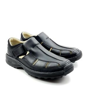Timberland Altamont Men's Leather Black Fisherman Sandal New Without Box