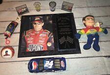 NASCAR Jeff Gordon Fan Kit Lot #2 - Plague, Die Cast Cars, Plush, Ball, Glass
