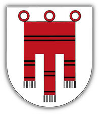 Vorarlberg City Coat Of Arms Austria Car Bumper Sticker Decal 4'' x 5''