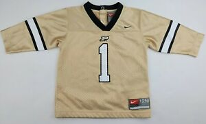Purdue Boilmakers Nike Gold Black Baby 12 Months Long Sleeve Football Jersey