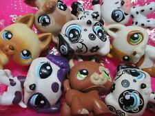 Littlest Pet Shop Set Lot 2 Random German Shepherd Dalmatian Dog Authentic Lps