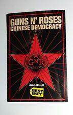 "GUNS N' ROSES CHINESE DEMOCRACY POSTCARD GNR RED BLACK MUSIC 4"" x 6"" STICKER"