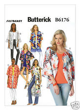 B6176 Misses Open Front Kimonos Sizes XS-M Butterick Sewing Pattern