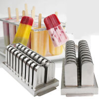US Stainless Steel Ice Pop Molds Ice Cream Ice Lolly Popsicle Stick Holder Maker