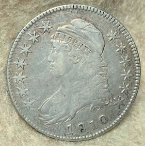 1810 O-102 R1 Capped Bust Half Dollar – Very Fine Condition!