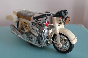 "Unbranded 8"" HONDA POLICE MOTORBIKE Vintage TINPLATE Toy Japan RARE 60s/70's"