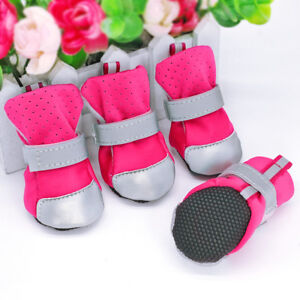 Dog Shoes Winter Small Medium Pink Blue Pet Boots Waterproof Booties for Dogs