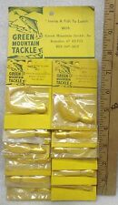 GREEN MOUNTAIN TACKLE ,Bucktail Jigs, Sport Shop Full Hang Card,New old stock