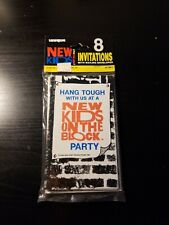 NEW KIDS ON THE BLOCK INVITATIONS (8) ~ Vintage Birthday Party Supplies Cards