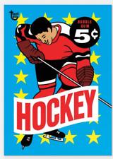 2018 Topps Wrapper Art #48 Hockey 1963 Bubble Gum Retro Card Print Run 258