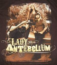 LADY ANTEBELLUM ADULT MEDIUM COUNTRY MUSIC BROWN CONCERT SHIRT   FREE SHIPPING