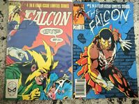 The Falcon #1 and #4 **TWO ISSUE LOT** (Marvel 1983) 1st Solo Series - Bronze