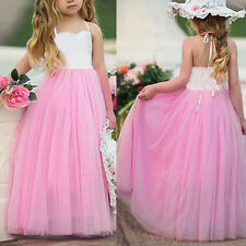 Flower Girl Dress Princess Kid Baby Party Wedding Formal Gown Tulle Tutu Dresses