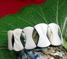 Modeschmuck-Armbänder im Gummiarmband-Stil aus Muschel für Damen