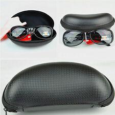 Portable Zipper Eye Glasses Sunglasses Clam Shell Hard Case Protector Box 1pcs